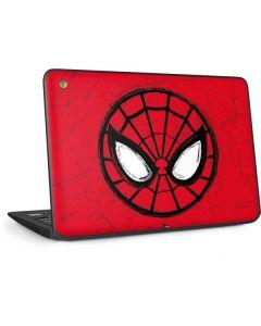 Spider-Man Face HP Chromebook Skin
