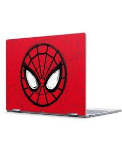 Spider-Man Face Pixelbook Skin