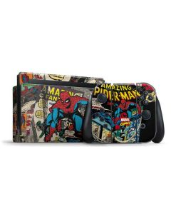 Spider-Man Vintage Comic Nintendo Switch Bundle Skin