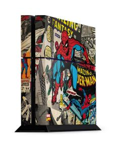 Spider-Man Vintage Comic PS4 Console Skin