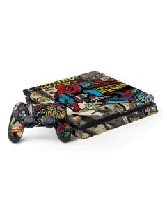 Spider-Man Vintage Comic PS4 Slim Bundle Skin