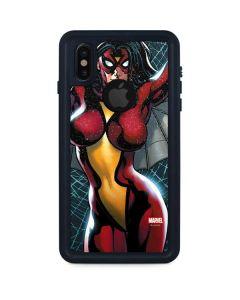Spider-Woman Web iPhone XS Waterproof Case