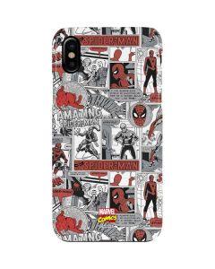 Spidey Comic Pattern iPhone XS Max Lite Case