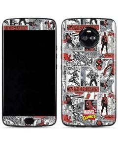 Spidey Comic Pattern Moto X4 Skin