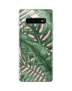 Spring Palm Leaves Galaxy S10 Plus Skin