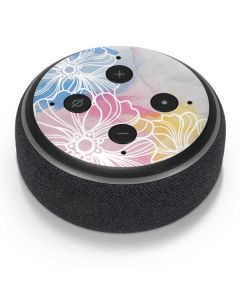 Spring Watercolors Amazon Echo Dot Skin
