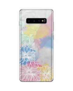 Spring Watercolors Galaxy S10 Plus Skin
