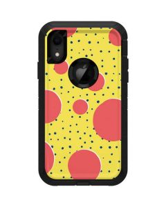 Spring Yellow Polka Dots Otterbox Defender iPhone Skin
