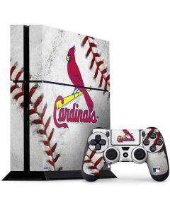 St. Louis Cardinals Game Ball PS4 Console and Controller Bundle Skin