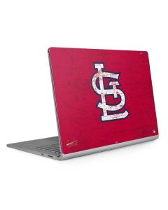 St. Louis Cardinals - Solid Distressed Surface Book 2 15in Skin