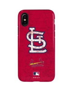St. Louis Cardinals - Solid Distressed iPhone X Pro Case