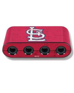 St. Louis Cardinals - Solid Distressed Nintendo GameCube Controller Adapter Skin