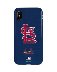 St. Louis Cardinals- Alternate Solid Distressed iPhone X Pro Case