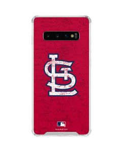 St. Louis Cardinals - Solid Distressed Galaxy S10 Clear Case