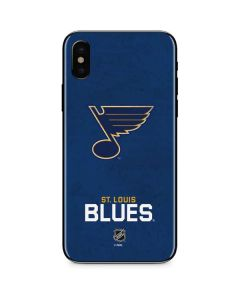 St. Louis Blues Distressed iPhone XS Skin