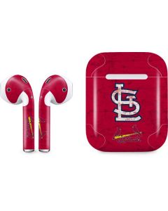 St. Louis Cardinals - Solid Distressed Apple AirPods Skin