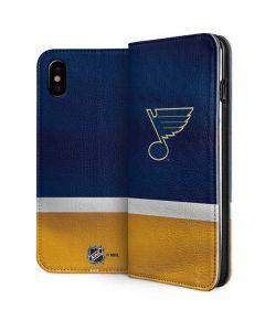 St. Louis Blues Jersey iPhone XS Folio Case