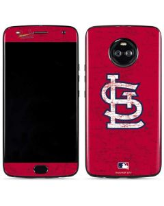 St. Louis Cardinals - Solid Distressed Moto X4 Skin