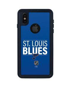 St. Louis Blues Lineup iPhone X Waterproof Case