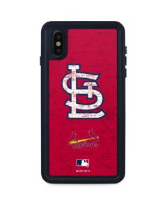 St. Louis Cardinals - Solid Distressed iPhone XS Max Waterproof Case