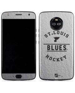 St. Louis Blues Black Text Moto X4 Skin
