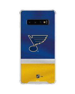 St. Louis Blues Jersey Galaxy S10 Clear Case
