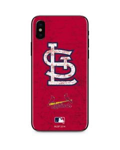 St. Louis Cardinals - Solid Distressed iPhone X Skin
