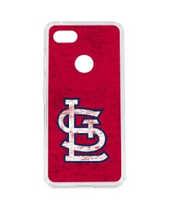 St. Louis Cardinals - Solid Distressed Google Pixel 3 XL Clear Case
