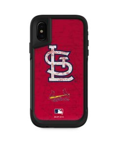 St. Louis Cardinals - Solid Distressed Otterbox Pursuit iPhone Skin