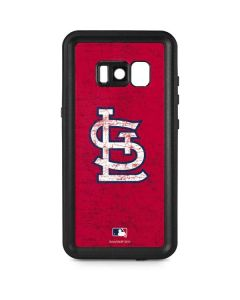St. Louis Cardinals - Solid Distressed Galaxy S8 Waterproof Case