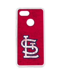 St. Louis Cardinals - Solid Distressed Google Pixel 3 Clear Case