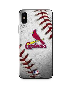St. Louis Cardinals Game Ball iPhone X Skin