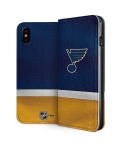 St. Louis Blues Jersey iPhone XS Max Folio Case