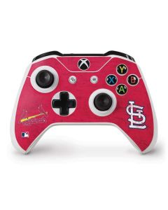 St. Louis Cardinals - Solid Distressed Xbox One S Controller Skin