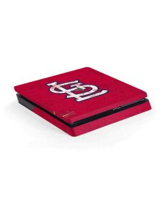 St. Louis Cardinals - Solid Distressed PS4 Slim Skin