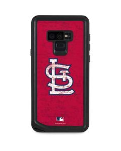 St. Louis Cardinals - Solid Distressed Galaxy Note 9 Waterproof Case