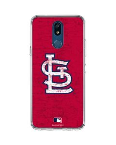 St. Louis Cardinals - Solid Distressed LG K30 Clear Case
