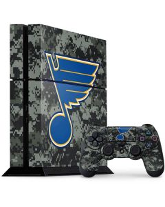 St. Louis Blues Camo PS4 Console and Controller Bundle Skin