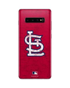 St. Louis Cardinals - Solid Distressed Galaxy S10 Plus Skin