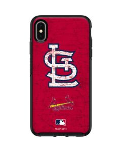 St. Louis Cardinals - Solid Distressed Otterbox Symmetry iPhone Skin