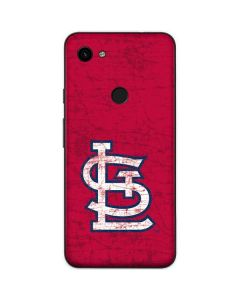 St. Louis Cardinals - Solid Distressed Google Pixel 3a Skin