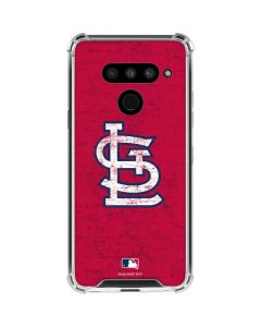 St. Louis Cardinals - Solid Distressed LG V50 ThinQ Clear Case