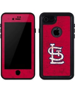 St. Louis Cardinals - Solid Distressed iPhone 8 Waterproof Case