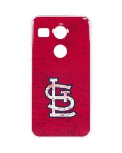 St. Louis Cardinals - Solid Distressed Google Nexus 5X Clear Case