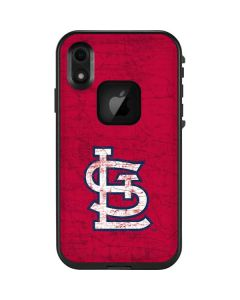 St. Louis Cardinals - Solid Distressed LifeProof Fre iPhone Skin