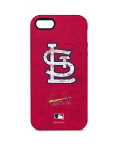 St. Louis Cardinals - Solid Distressed iPhone 5/5s/SE Pro Case