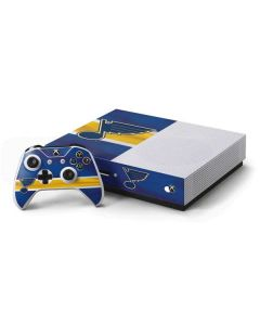 St. Louis Blues Jersey Xbox One S Console and Controller Bundle Skin