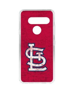 St. Louis Cardinals - Solid Distressed LG V40 ThinQ Clear Case