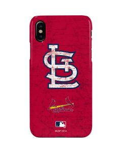 St. Louis Cardinals - Solid Distressed iPhone XS Max Lite Case