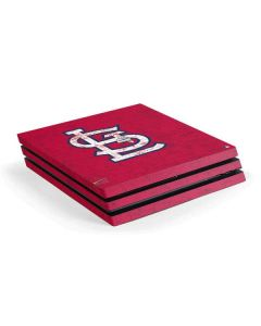 St. Louis Cardinals - Solid Distressed PS4 Pro Console Skin